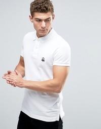 Приталенная футболка-поло из ткани пике United Colors of Benetton