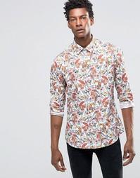 Рубашка слим с принтом Devils Advocate - Синий