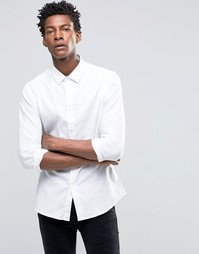 Рубашка слим с принтом Devils Advocate - Белый