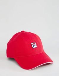 Кепка с логотипом Fila - Красный