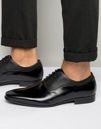 Оксфордские туфли из черной кожи Aldo Alson - Черный