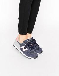 Сине-розовые кроссовки New Balance 373