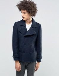 Фактурное вязаное пальто Feraud Premium - Темно-синий