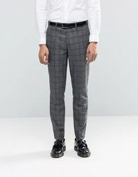 Шерстяные брюки в клетку Feraud Heritage Premium - Серый