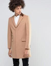 Пальто из 80% итальянской шерсти с бархатным воротником Feraud - Рыжий