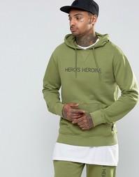Худи с логотипом Heros Heroine - Хаки