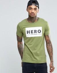 Футболка с большим логотипом Heros Heroine - Хаки