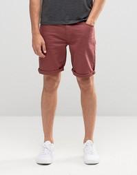Бордовые джинсовые шорты облегающего кроя ASOS - Темно-бордовый