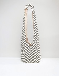 Пляжная сумка с шевронным принтом South Beach - Серый