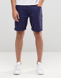Темно-синие джинсовые шорты облегающего кроя ASOS - Вечерний синий