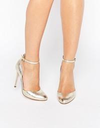 Туфли на высоком каблуке ASOS PLAYWRIGHT - Золотой