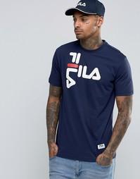 Черная футболка с логотипом Fila - Темно-синий
