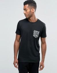 Футболка с камуфляжным карманом Brave Soul - Черный