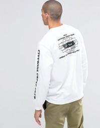 Лонгслив с принтом на спине HUF - Белый