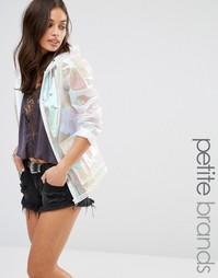 Куртка-дождевик с голографической отделкой Missguided Petite - Белый