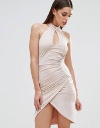 Платье-футляр с вырезом капелькой и перекрестной отделкой Sistaglam
