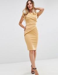 Бандажное платье-футляр Jessica Wright - Кэмел