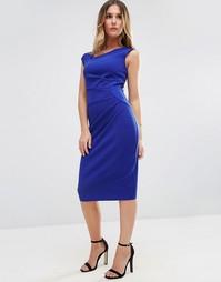 Платье-футляр без рукавов Jessica Wright - Синий
