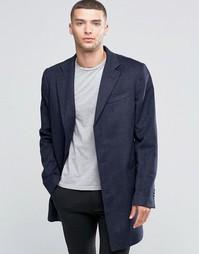 Шерстяное пальто United Colors Of Benetton - 901 темно-синий
