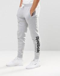 Серые джоггеры с большим логотипом Reebok AY0786 - Серый