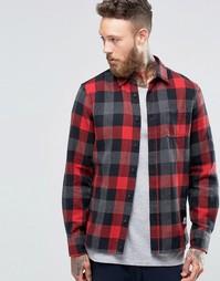 Клетчатая рубашка на пуговицах с начесом Penfield Valetview - Красный