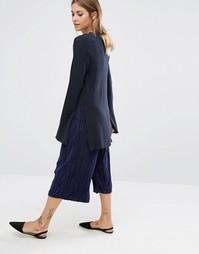 Плиссированная юбка-брюки Fashion Union - Темно-синий