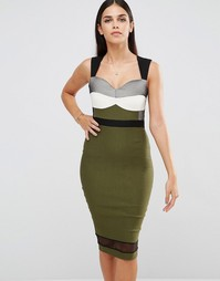 Платье-футляр без рукавов Vesper - Хаки