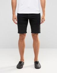 Черные облегающие шорты ASOS - Черный