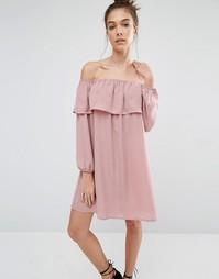 Платье с открытыми плечами Glamorous - Mink