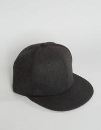 Серая фетровая бейсболка 7X - Серый