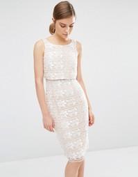 Кружевное цельнокройное платье Coast Cerelia - Neutral