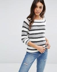 Черно-серый джемпер в полоску Vero Moda