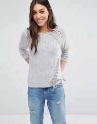 Джемпер со шнуровкой Vero Moda - Пепельный серый