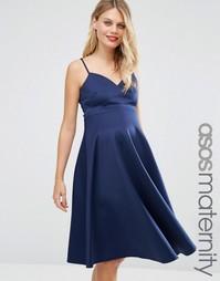 Платье миди для беременных ASOS Maternity - Темно-синий