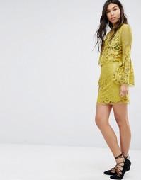 Кружевная юбка Boohoo - Лайм