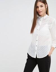 Рубашка с шевронным узором Sisley - 074