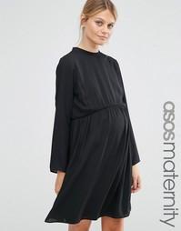 Платье-трапеция для беременных ASOS Maternity - Черный