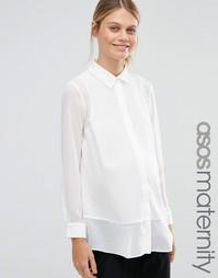 Блузка для беременных с прозрачными вставками ASOS Maternity