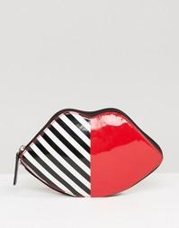 Складывающаяся сумка-шоппер в форме губ Lulu Guinness