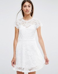 Кружевное платье мини Vero Moda - Снежно-белый
