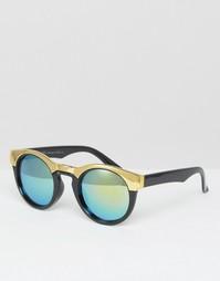 Солнцезащитные очки в оправе с металлической отделкой 7X