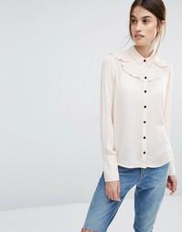 Рубашка с оборкой Vero Moda - Кремовый загар