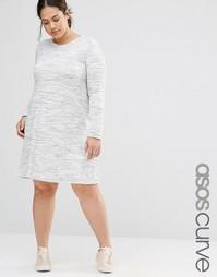 Меланжевое свободное платье в повседневном стиле ASOS CURVE - Мульти