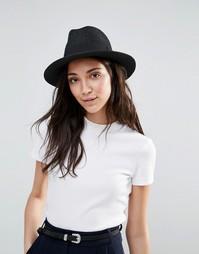 Соломенная шляпа с ленточкой Liquorish - Черный