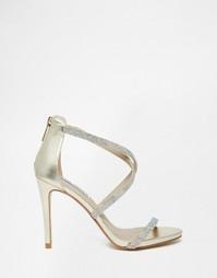 Золотистые босоножки на каблуке Steve Madden Fizz - Золотой