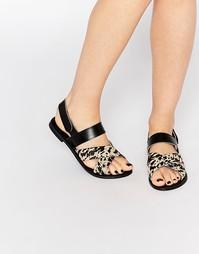 Кожаные сандалии с перекрестными ремешками Park Lane
