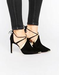 Замшевые туфли на каблуке с завязками Ted Baker Ikeba