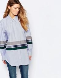 Рубашка с полосами Wood Wood - Синий в полоску