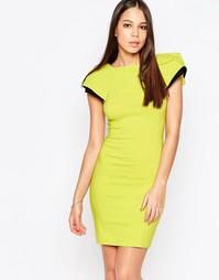 Платье-футляр с рукавами-крылышками Vesper Logan - Зеленый