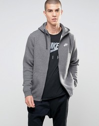 Серое худи Nike Club 804389-071 - Серый